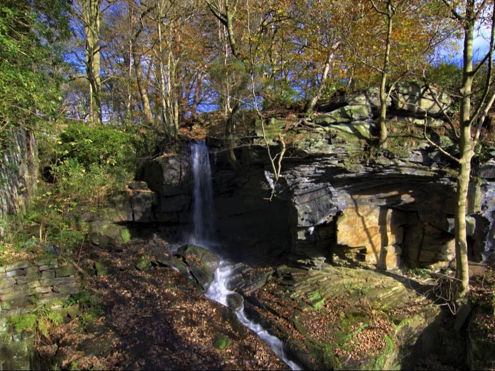 Lumsdale, Matlock, Derbyshire, Peak District, waterfall, mill, industry, heritage, history